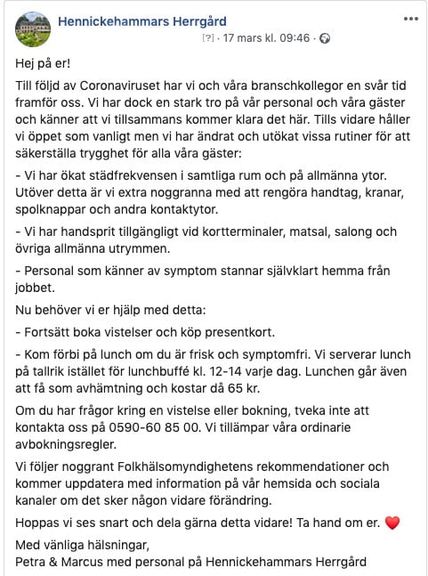 Inlägg Hennickehammars Herrgård